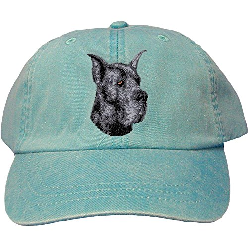 Cherrybrook Dog Breed Embroidered Adams Cotton Twill Caps - Caribbean Blue - Great ()