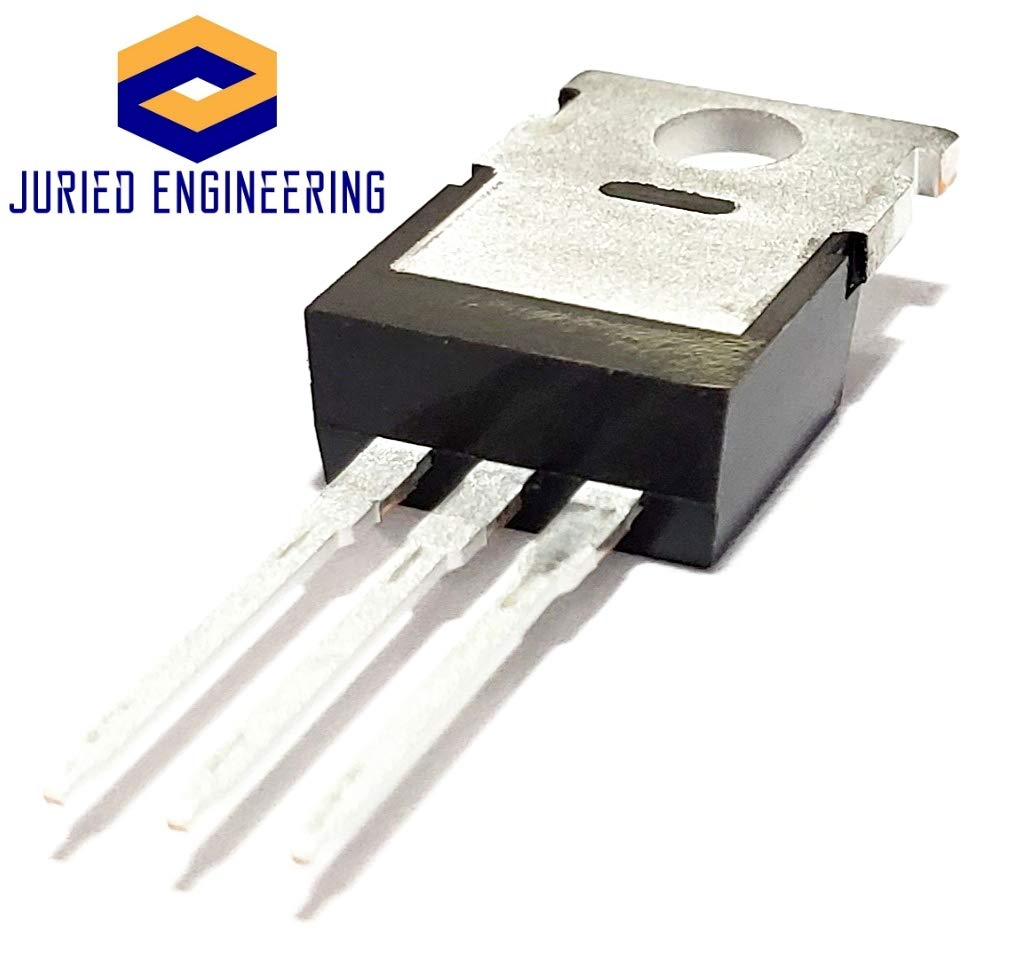 Juried Engineering STMicroelectronics L7809CV L7809 7809 Voltage Regulator IC Linear 9V 1.5A TO220AB TO-220 Breadboard-Friendly Pack of 5