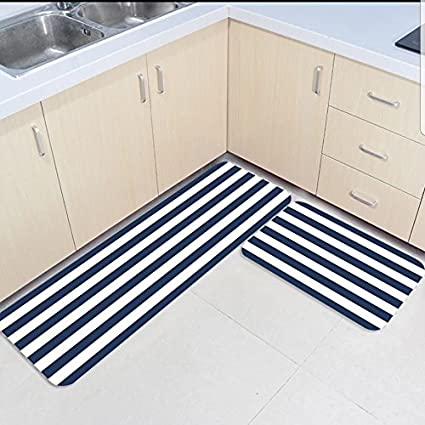 Amazon.com: SUN-Shine 2 Piece Kitchen Mats and Rugs Set Navy ...