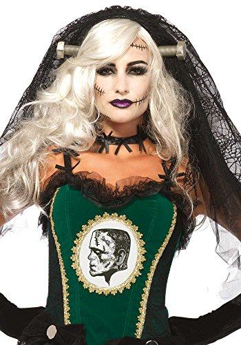 (Leg Avenue Women's Bride of Frankenstein Veil Costume Accessory, Black, One)