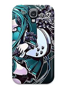 premium Phone Case For Galaxy S4/ Anime Girl Guitar Tpu Case Cover