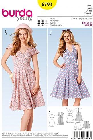 Burda patrón de costura para traje de neopreno para mujer 6793 ...