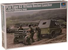 36b85a892 Trumpeter 1/35 PLA Type 63 107mm Rocket Launcher and BJ212 Military Jeep  Model Kit