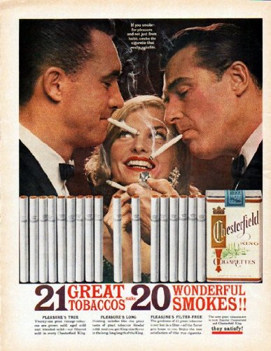 Chesterfield Cigarettes - 1962 Chesterfield Cigarettes Ad