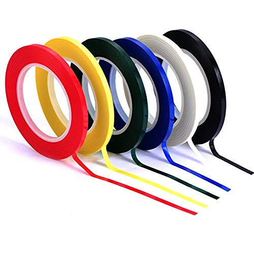 3 mm Width Whiteboard Gridding Tape Grid Marking Tapes Self Adhesive Chart Tapes Artist Tape, 5 Colors