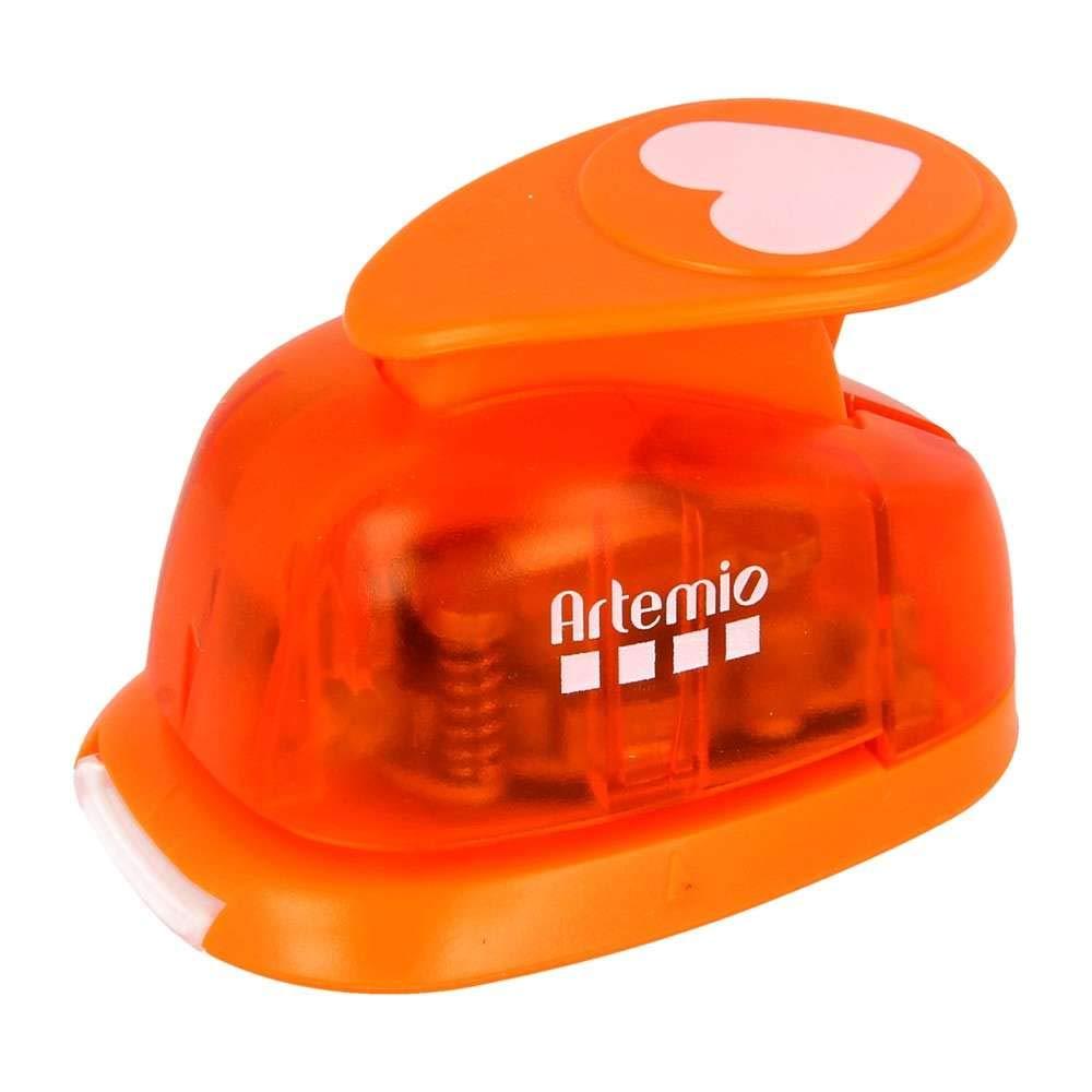 Artemio/ Color Naranja /Palanca de n/úmero 1 /Perforadora de 2,5/cm Big Heart/