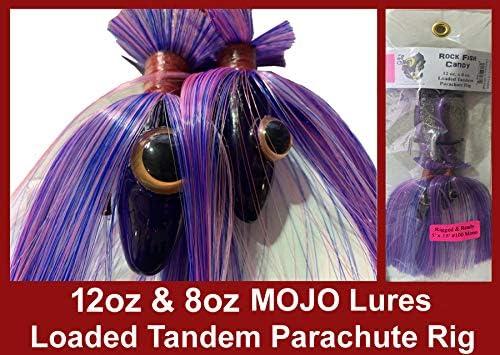 Magic Maja Mojo 24 oz /& 6 oz Mojo Lure Loaded with 9-Inch Swimbait Shad Bodies Tandem Parachute Rigged /& Ready Tony Maja