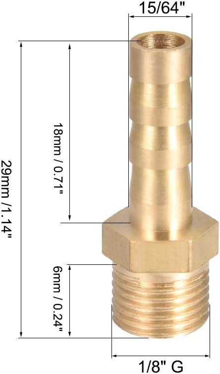 Sourcing map 8 mm /à 4 mm Tuyau ID en laiton R/éducteur Barb Tuyau Raccord droit Raccord Raccord Raccord Raccord Tube Adaptateur 3 pi/èces