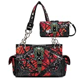 Realtree Camouflage Western Buckle Shoulder Bag Hobo Totes Purse Women's Handbag Wallet Set...