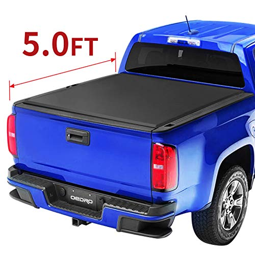 oEdRo Tri-Fold Truck Bed Tonneau Cover Compatible with 2015-2019 Chevy Colorado/GMC Canyon with 5 Feet Bed, Fleetside