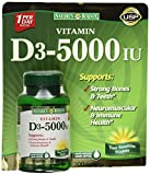 Nature's Bounty Vitamin D3 5000 IU, 300 Softgels