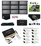 ALLPOWERS Foldable Solar Panel SunPower Portable Solar Charger Generator with iSolar Technology for Laptop, Tablet, ipad,Smartphone, iPhone, Samsung, USB powered, Portable Batteries (60W)