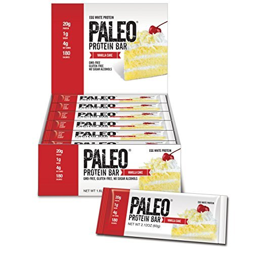 Julian Bakery Paleo Protein Bars, Vanilla Cake, 12 Count