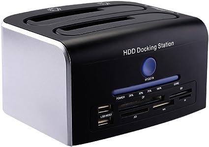 Mbuynow USB 3.0 a SATA 2-Bay Disco duro externo Docking Station ...