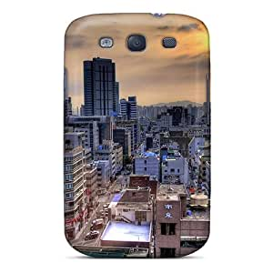 New KPGoO15735AxrSF Roofs Of Tokyo Hdr Skin Case Cover Shatterproof Case For Galaxy S3