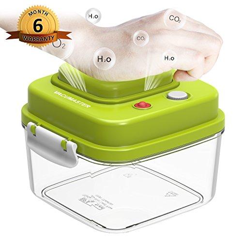 Food Storage Container with Vacuum Sealed Airtight Lid - Vacumaster Quick Marinator Leak Proof BPA Free Pumpable Press Type Fresh Keeper (0.5 Quart)