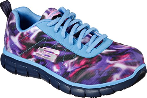 Skechers+Work+Relaxed+Fit+Synergy+Arrey+Alloy+Toe+Womens+Sneakers+Blue%2FMulti+9