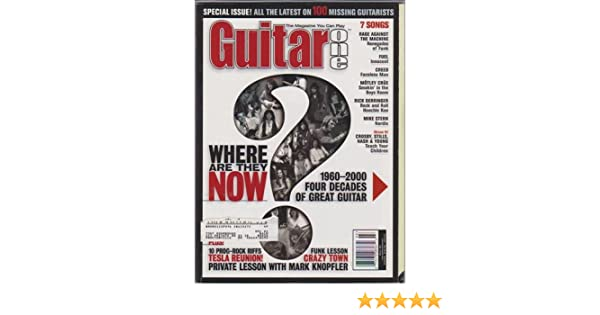 Guitar One Magazine (March 2001) (Where Are They Now? 1960 ...