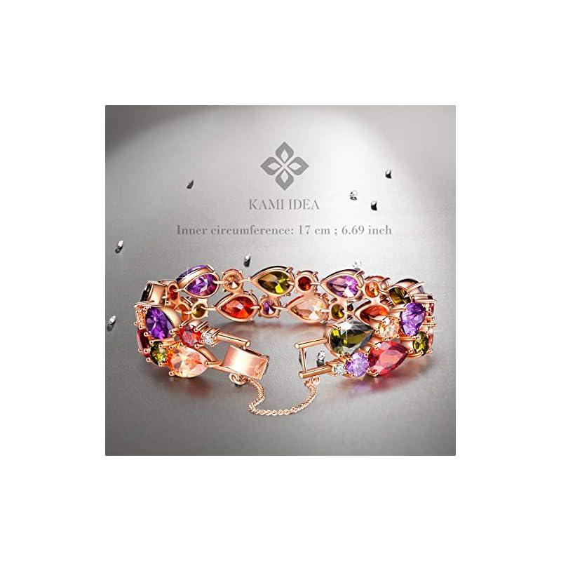 Kami-Idea-Monalisa-Bracelet-Women-Rose-Gold-Plated-5A-Cubic-Zirconia-Bangle-Bracelet-Elegant-Jewellery-Box-Every-Special-Moment-669-Inches
