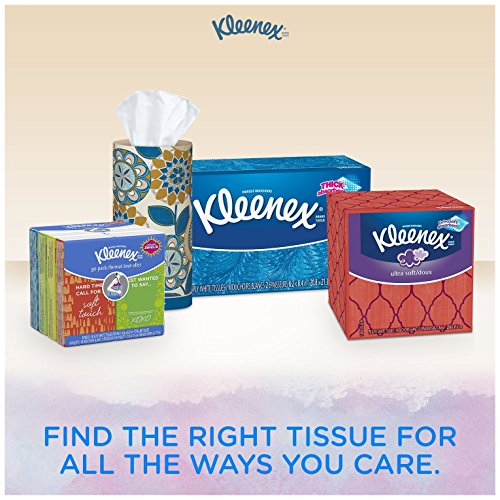 Kleenex Everyday Facial Tissues, 210 ct, (Pack of 18). Designs May Vary