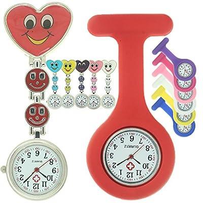Silicone Pocket Brooch Clip Fob Medical Nurse Watch Pocket Clock Gift for Hospital Doctors Nursing Timepiece from FobTime