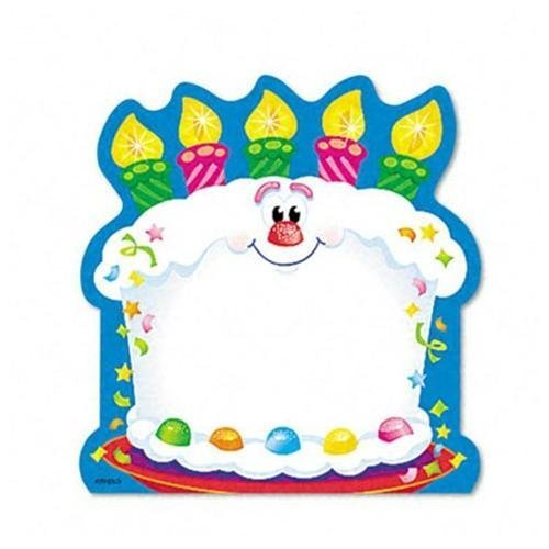 1 Die Cut Memo Pad - Trend Bright Birthday Shaped Note Pad - 50 x Multicolor - 5
