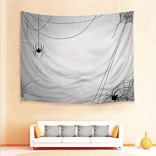 iPrint 1pcs Hanging Tapestry and 4pcs Pillow case,Wall Hanging Blanket Beach Towels Picnic Mat Home Decor,Webs Halloween Inspired Design Dangerous Cartoon,3D Printed Tapestry for Bedroom Living Room ()