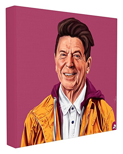 Stupell Home Décor HIPSTORY Hipster Ronald Reagan Stretched Canvas Wall Art, 17 x 1.5 x 17, Proudly Made in USA