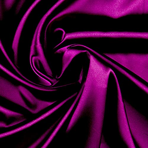 Ben Textiles Stretch Charmeuse Satin Magenta Fabric by The Yard