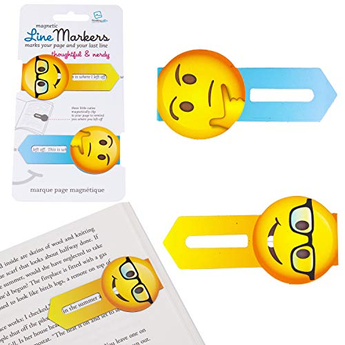 Thinking Gifts Line Markers Thoughtful & Nerdy - Magnetic Bookmarks: Motiv...