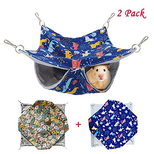 HOMEYA Pet Small Animal Hanging Hammock, Bunkbed Hammock Toy for Ferret Hamster Parrot Rat Guinea-Pig Mice Chinchilla…