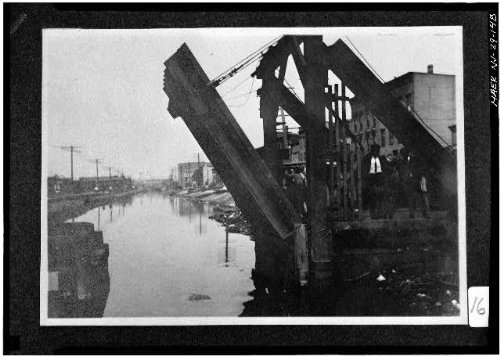 Photo: 148. LIFT BRIDGE AT GROVE STREET. - Morris Canal,Phillipsburg,Warren - Shopping Street Map Canal