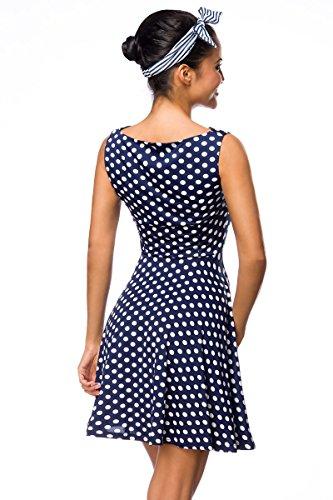 Blaues kleid mit weiben punkten madchen