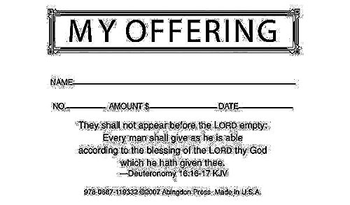 My Offering Economy Offering Envelope (Box of 500) (Offering Envelopes For Church)