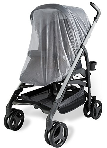 Baby Mosquito Net For Strollers  Carriers  Car Seats  Cradles  Fits Most Packnplays  Cribs  Bassinets   Playpens  44 X 48 Inch  Made Of White  Portable   Durable Baby Insect Netting