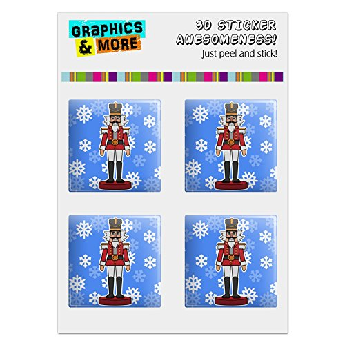 GRAPHICS & MORE Grinning Nutcracker Soldier with Snowflakes Computer Case Modding Badge Emblem Resin-Topped 1
