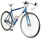 Tour de France  Stage One Vintage Fixie Bike, 700c Wheels, Mens Bike, Blue, 45 cm Frame, 51 cm Frame, 56 cm Frame