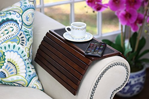 BaarBird - Sofa Couch Armrest Tray Table used as Drink Holder or TV mouse laptop table for round and square (Sofa Arm Tray)