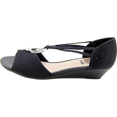Impo Womens Regie Open Toe Casual Mule Sandals Black Size 75