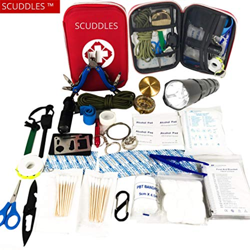 Adventure Medical Kits Gear - First Aid Survival Kit - Emergency Trauma Kit - First Medical Portable Kit for Car Boat Home Office Hiking Camping Hunting Travel Adventures Earthquake - Survival Gear Kit Medical Supplies
