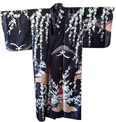 Golden Temple and Blossom Kimono Robe