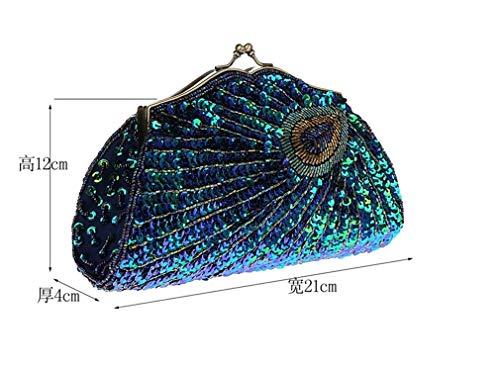 Peacock Beaded Designer Sequined Purses Evening Bags Women Crossbody Purple Luxury Clutch Handbags Handbags 4WInWrR1