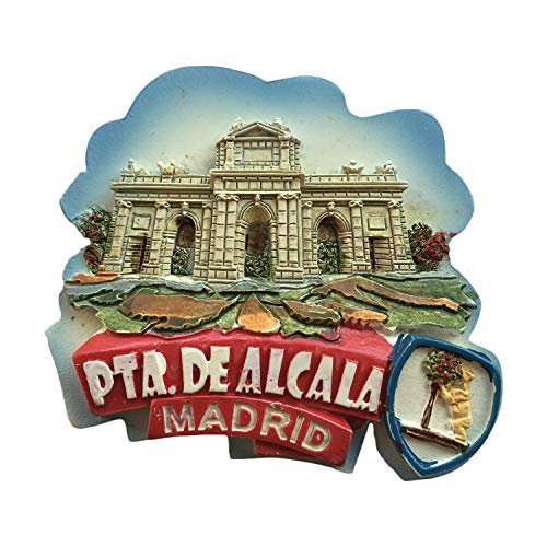 Madrid Spain 3D Refrigerator Magnet Tourist Souvenirs Resin Magnetic Stickers Fridge Magnet Home & Kitchen Decoration from China