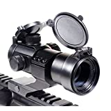 Rhino Tactical Green & Red Dot Sight for Rifles & Shotguns by Ozark Armament - Includes Picatinny Cantilever Mount Co-Witness with Iron Sights - Coated Optic