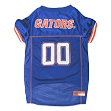 Pets First Collegiate Florida Gators Dog Mesh Jersey, Medium