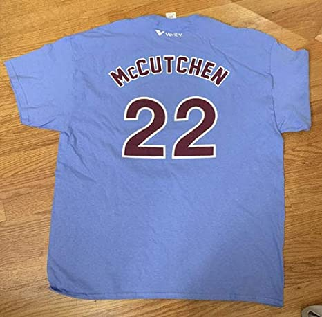 quality design 21671 a3c87 Amazon.com: NEW Philadelphia Phillies ANDREW MCCUTCHEN Retro ...