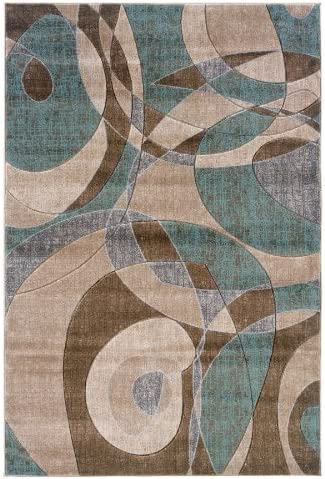 Modern Rectangular Area Rug 7 ft. 7 in. L x 5 ft. W 20 lbs.