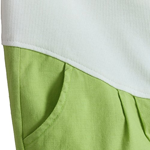 Laixing Fashion Maternity Pants Pregnancy Trousers Pregnant Women Flax Clothes 3081-1 Green
