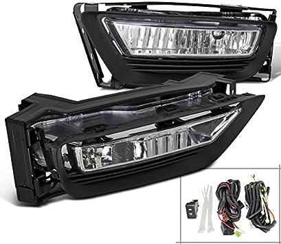Yellow Fog Light Bumper Lamp w//Switch+Harness+Bezel for 13-14 Honda Accord Sedan