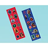 Power Rangers Samurai Sticker Strips (8) (Red/Black) Party Accessory, Health Care Stuffs